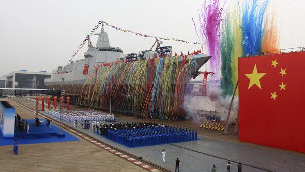 La botadura del crucero de misiles de fabricación china - Sputnik Mundo
