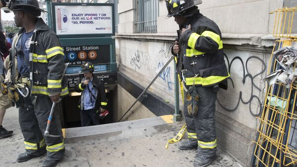 Evacuación del metro en Nueva York - Sputnik Mundo