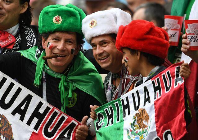 Los hinchas mexicanos en Kazán