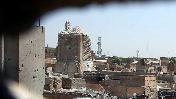 Los restos de la mezquita de al Nuri en Mosul, Irak - Sputnik Mundo