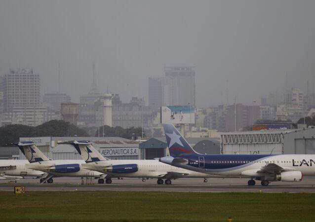 Aeropuerto Jorge Newbery en Buenos Aires, Argentina (archivo)