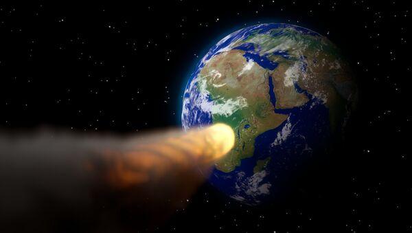 Un asteroide (ilustración) - Sputnik Mundo