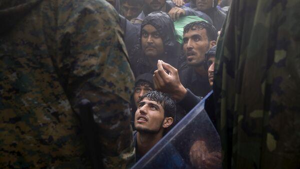 Los migrantes en Grecia (archivo) - Sputnik Mundo