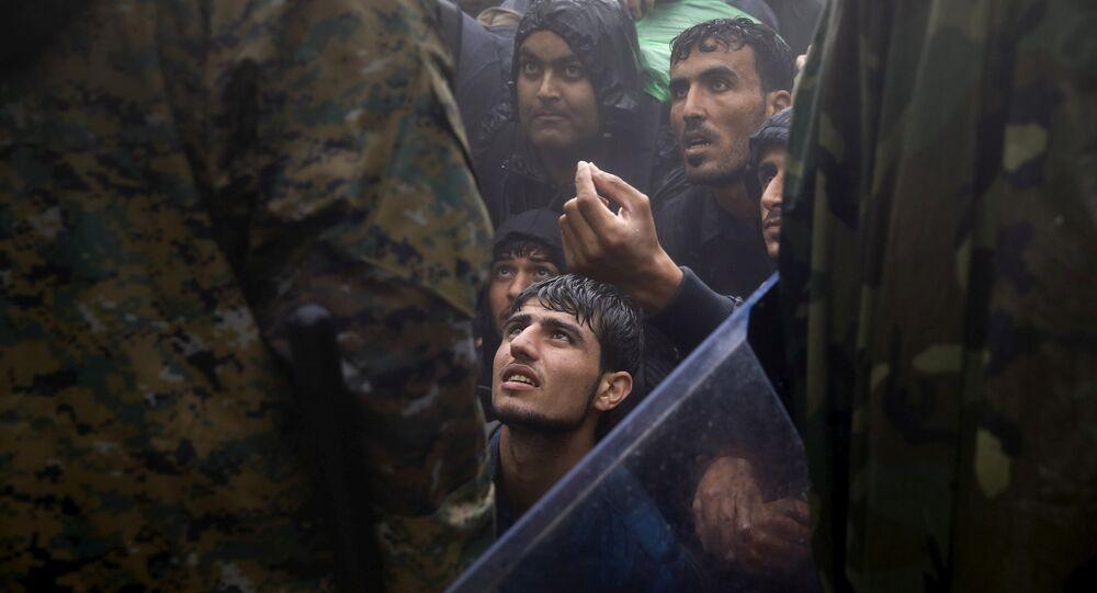 Los migrantes en Grecia (archivo)