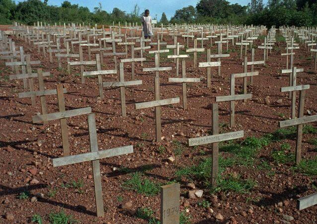 Las tumbas de las víctimas del genocidio ruandés