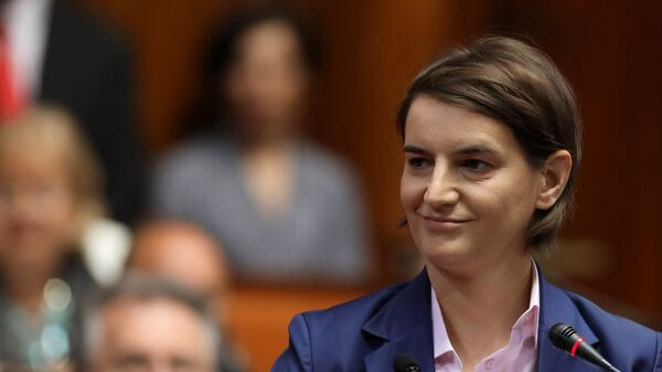 Ana Brnabic, primera ministra de Serbia - Sputnik Mundo