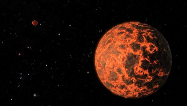 Planeta de lava (ilustración gráfica) - Sputnik Mundo