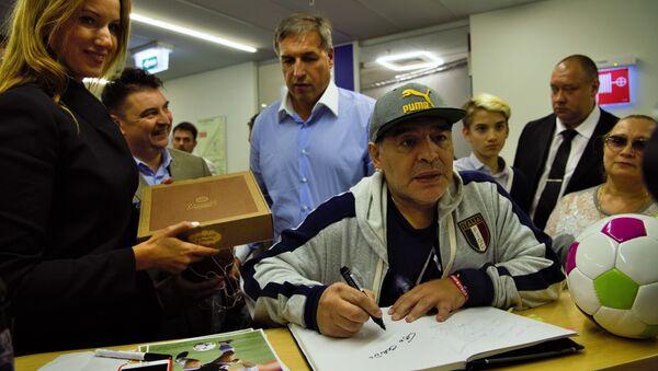 Diego Armando Maradona en Moscú - Sputnik Mundo