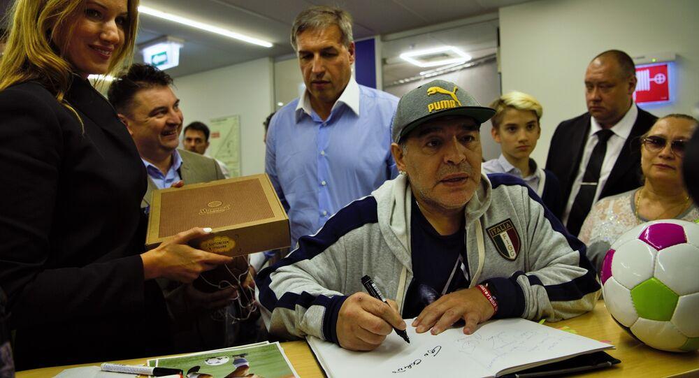 Diego Armando Maradona en Moscú