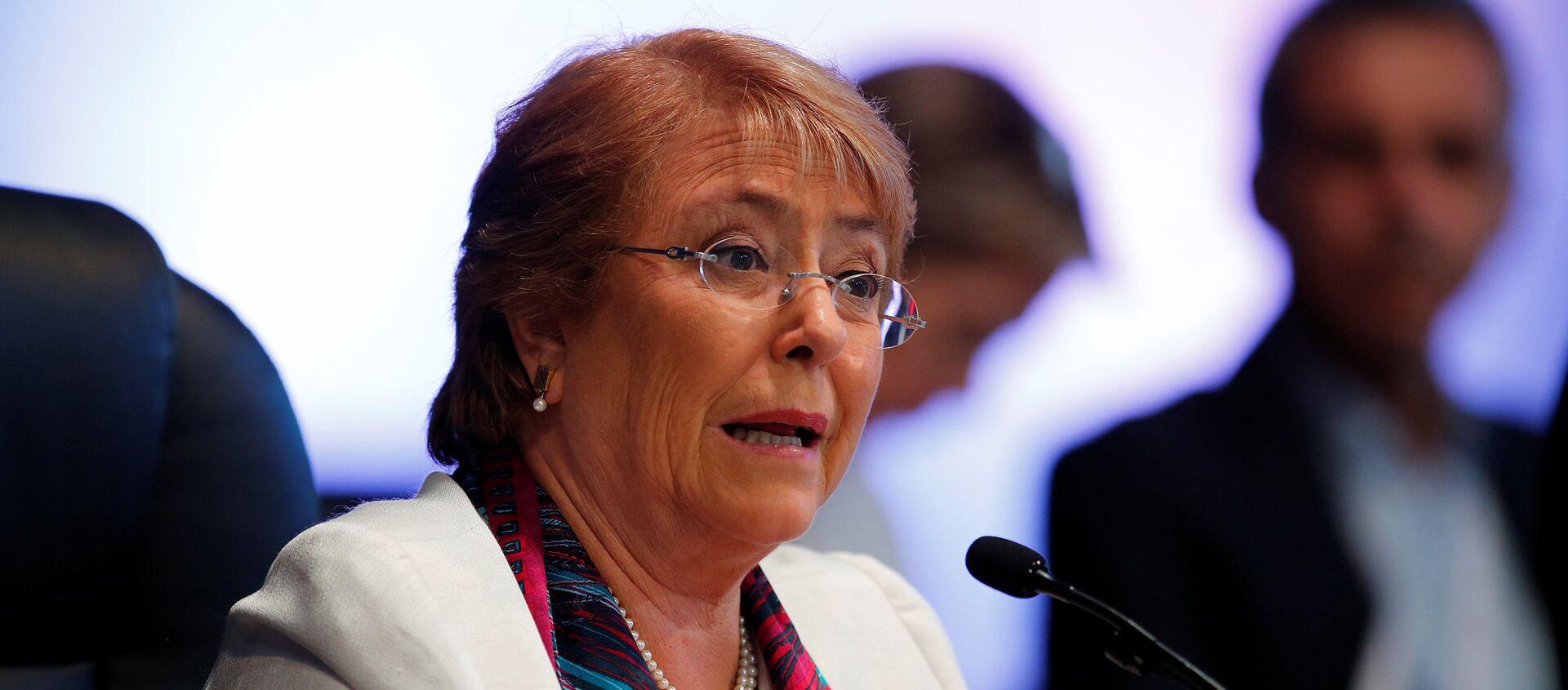 Michelle Bachelet, presidenta de Chile - Sputnik Mundo, 1920, 25.08.2020