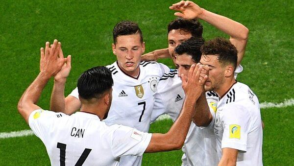 Jugadores de la selección alemana durante la semifinal de la Copa Confederaciones - Sputnik Mundo