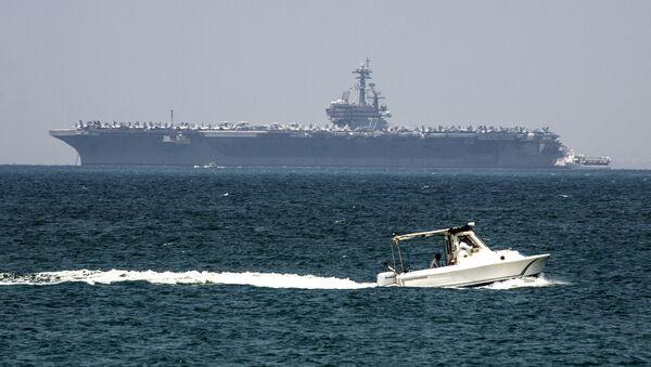El USS George H.W. Bush atraca en el puerto israelí de Haifa - Sputnik Mundo