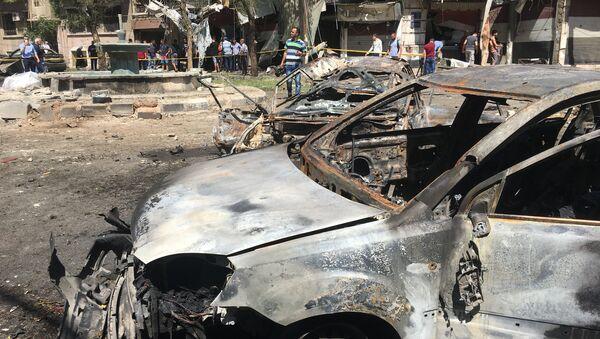 Lugar de explosión en Damasco - Sputnik Mundo