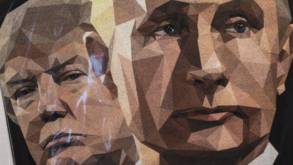 Una ilustración de Donald Trump, presidente de EEUU, y Vladímir Putin, presidente de Rusia - Sputnik Mundo