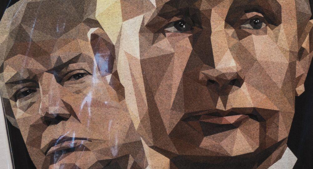 Una ilustración de Donald Trump, presidente de EEUU, y Vladímir Putin, presidente de Rusia