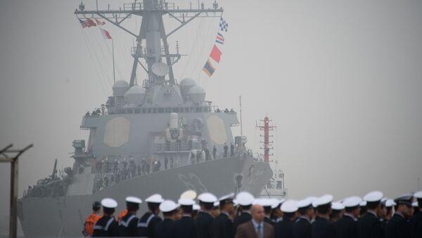El destructor estadounidense USS Stethem (archivo) - Sputnik Mundo