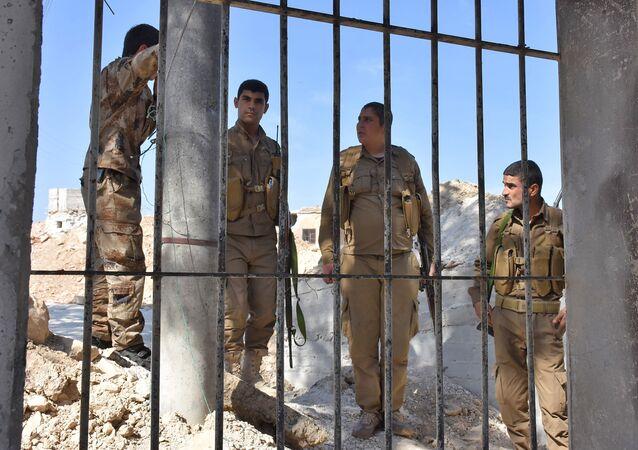 Los combatientes kurdos en Afrin, Siria