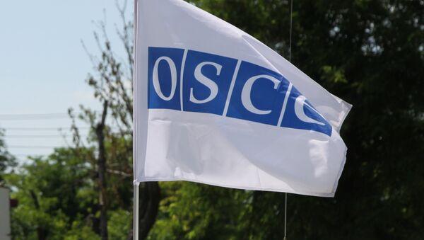 La bandera de la OSCE en Donbás - Sputnik Mundo