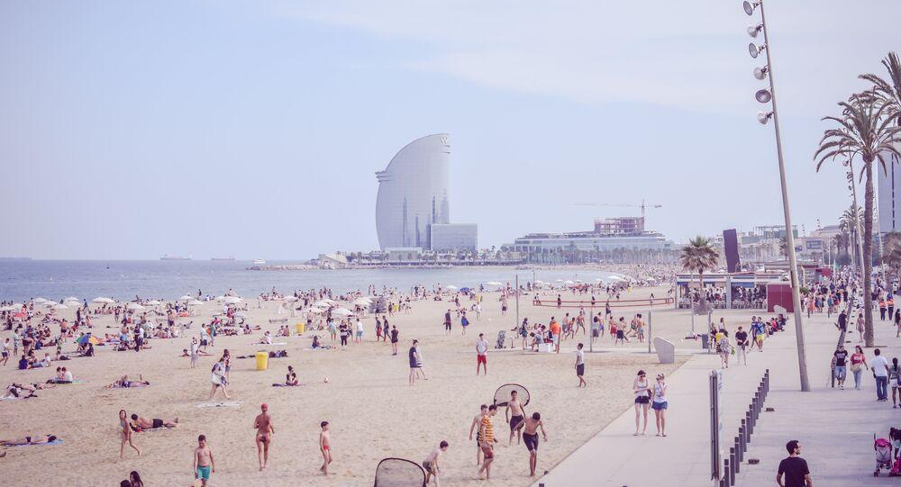 Playa en Barcelona, España