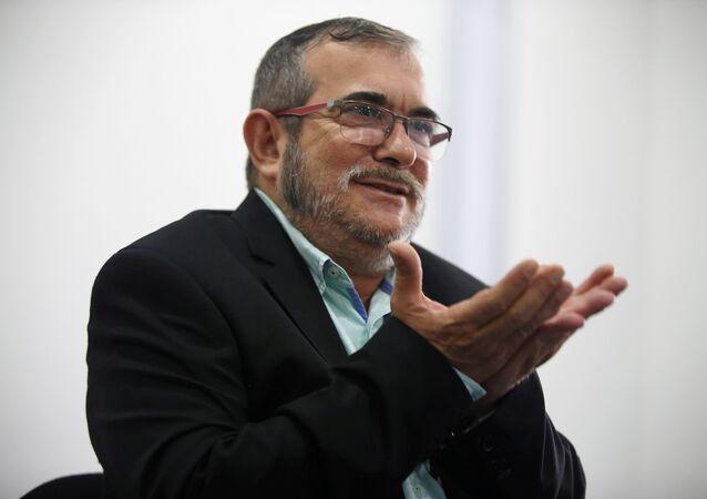 El líder de las FARC, Rodrigo Londoño, alias Timochenko (archivo)