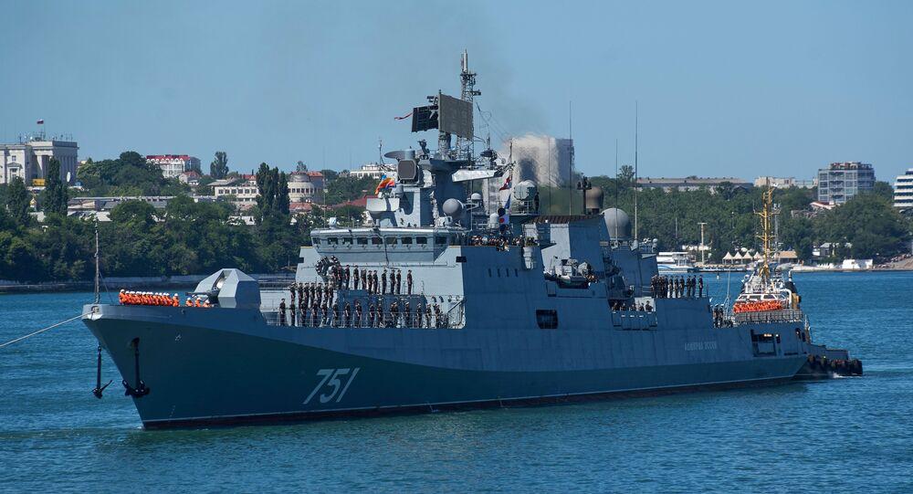 La fragata rusa Almirante Essen (archivo)