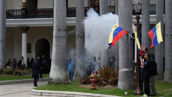 Disturbios en Caracas, Venezuela (archivo) - Sputnik Mundo