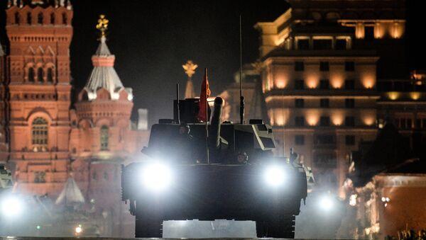 El tanque T-14 Armata en el ensayo del 72 aniversario de la victoria sobre el nazismo - Sputnik Mundo