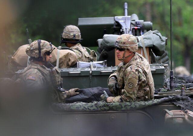 Militares estadounidenses en Polonia (archivo)