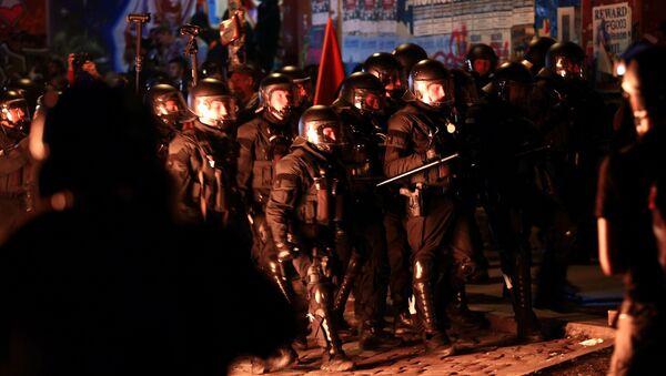 Choques durante una manifestación en Hamburgo - Sputnik Mundo