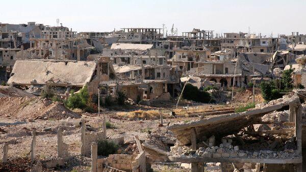 Edificios destruidos en Deraa, Siria - Sputnik Mundo