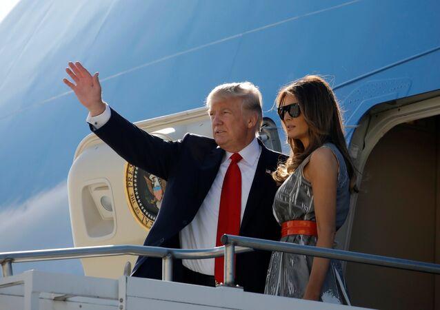 Doland Trump, presidente de EEUU, y Melania Trump, su esposa