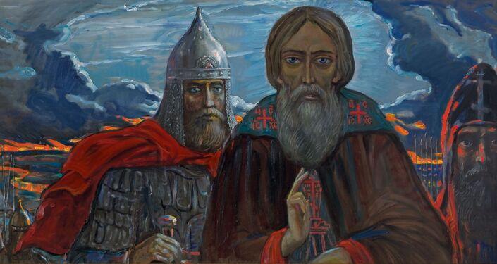 En víspera de la batalla de Kulikovo, Ilyá Glazunov