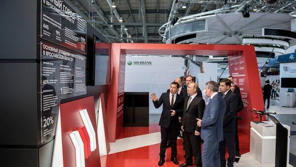 La exposición industrial Innoprom del consorcio tecnológico Rostec - Sputnik Mundo