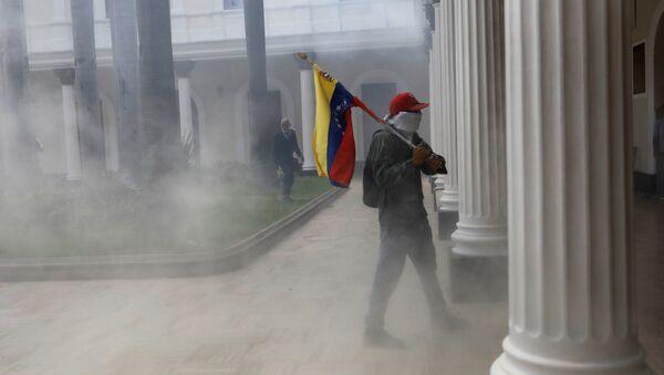 Disturbios en el edificio de la Asamblea Nacional en Venezuela - Sputnik Mundo