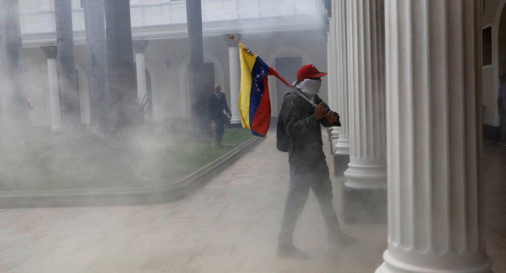 Disturbios en el edificio de la Asamblea Nacional en Venezuela (archivo)