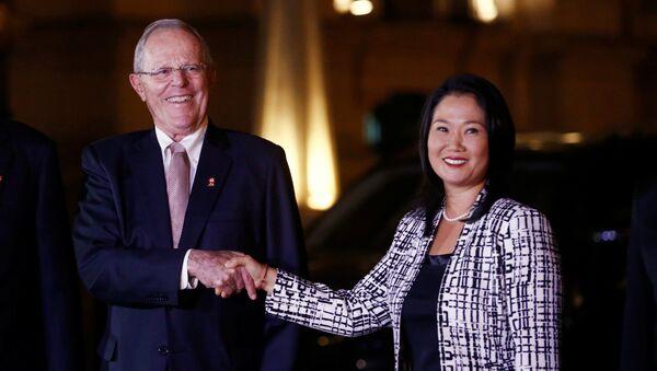 Keiko Fujimori y Pedro Pablo Kuczynski, el presidente de Perú - Sputnik Mundo