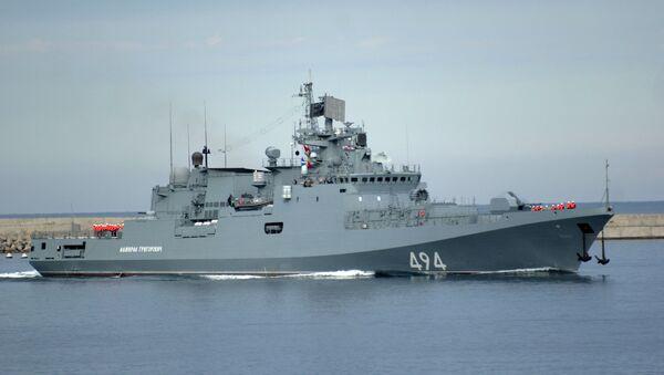 La fragata Almirante Grigorovich (archivo) - Sputnik Mundo