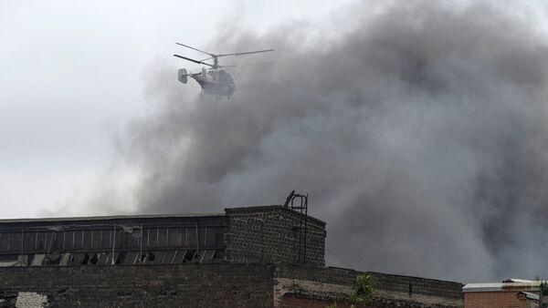 Incendio en la fábrica de maquinaria Kírov en San Petersburgo - Sputnik Mundo