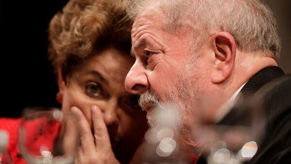 Expresidenta de Brasil, Dilma Rousseff, y expresidente del país, Luiz Inácio Lula da Silva - Sputnik Mundo