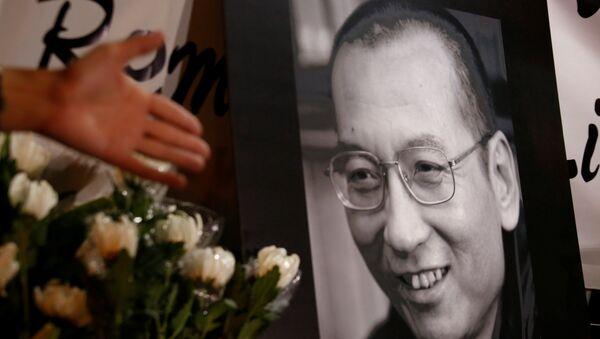 El retrato del disidente chino y premio Nobel de la Paz, Liu Xiaobo - Sputnik Mundo