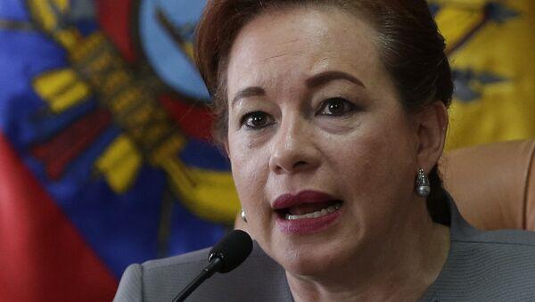 María Fernanda Espinosa, canciller de Ecuador - Sputnik Mundo