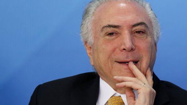 Michel Temer, expresidente de Brasil (archivo) - Sputnik Mundo