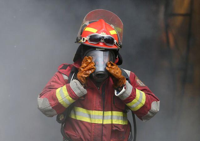 Un bombero (imagen referencial)