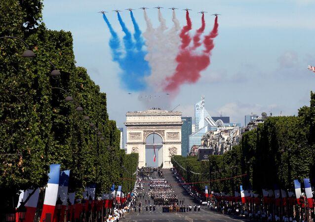 Celebración del Día de la Bastilla en Francia