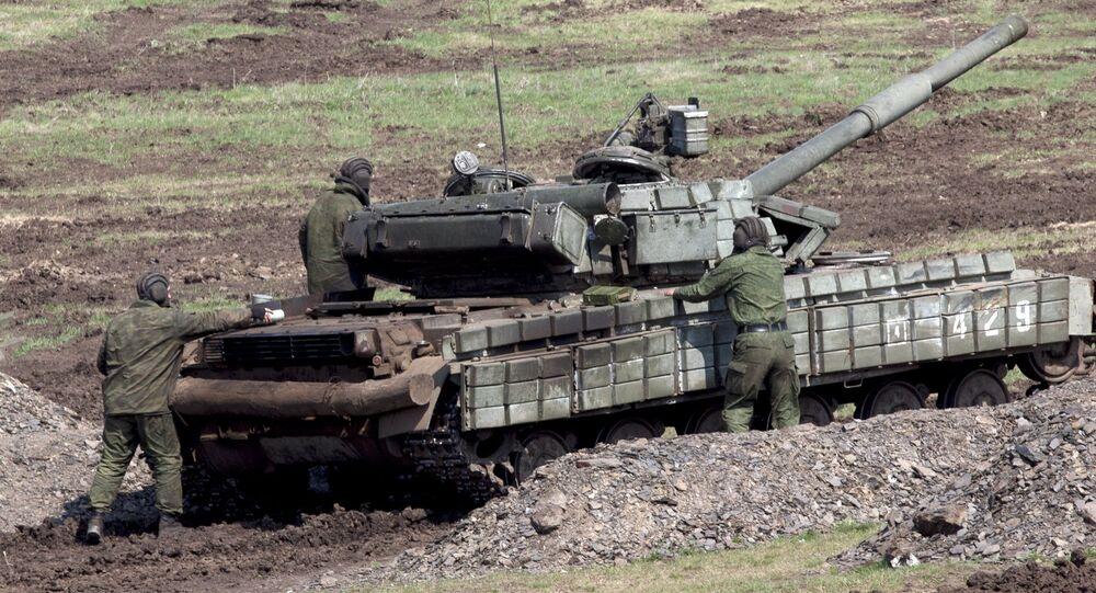 Ejercicios militares de la autoproclamada República Popular de Lugansk, Ucrania