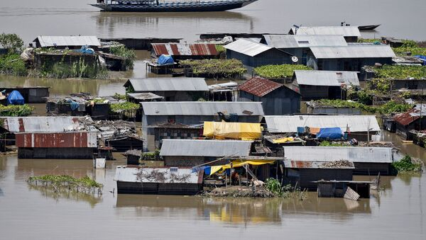 Inundaciones en la India - Sputnik Mundo