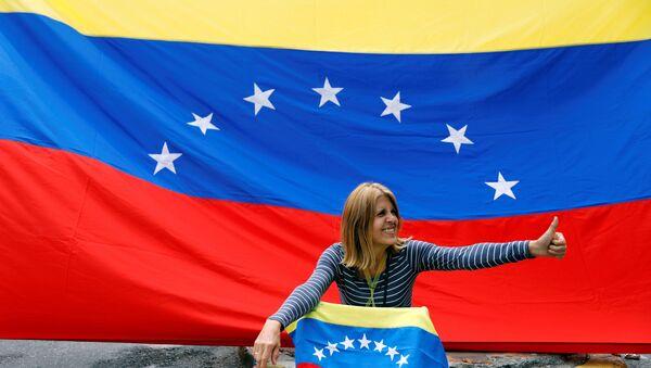 Protesta de la oposición en Caracas, Venezuela - Sputnik Mundo