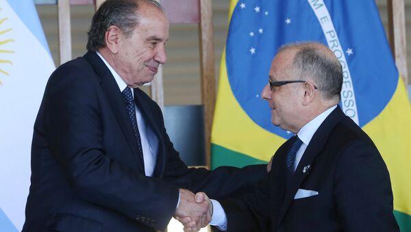 Jorge Faurie, ministro de Relaciones Exteriores de Argentina y Aloysio Nunes, ministro de Relaciones Exteriores de Brasil - Sputnik Mundo