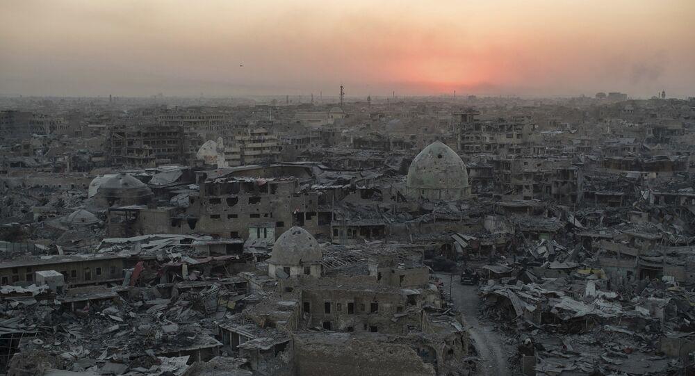 Zona oeste de Mosul, en Irak