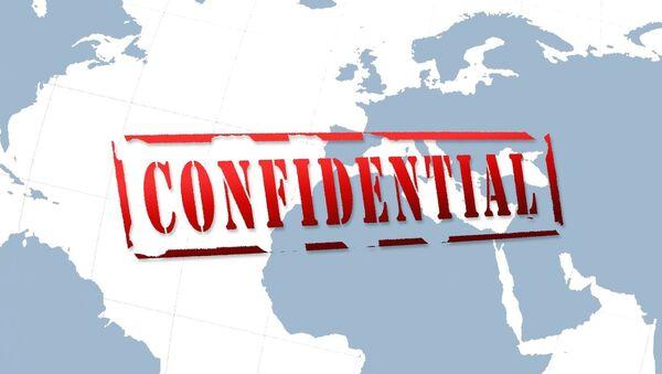 Palabra 'confidential' en el mapa del mundo - Sputnik Mundo